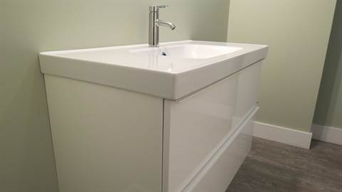 Edmonton House. Lower Level Third Bathroom Vanity