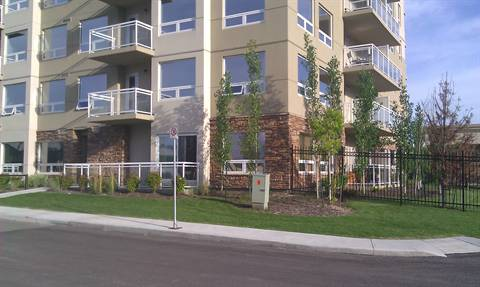 Spruce Grove Condominium. Corner suite (from outside): check-out the brick work!!