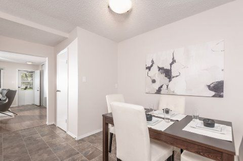 Edmonton Townhouse. Entertain friends and family in our open concept kitchen and dining space