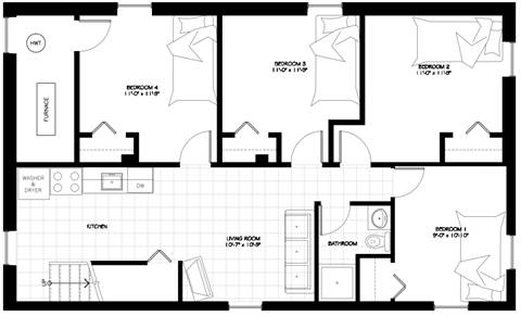 Ottawa Apartment. 1015-B Floorplan