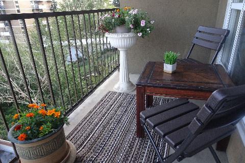 Edmonton Condominium. Balcony